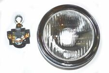 Vespa HeadLight Head Lamp With Holder Rally 180 200 Sprint Veloce 130mm CAD