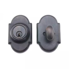 Essentials Mhdwle23910 Satin Oxidized Bronze Segovia Solid Brass Single Cylinder