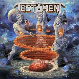 TESTAMENT-TITANS OF CREATION (CLEAR WITH ORANGE & BLUE) (US IMPORT) VINYL LP NEW
