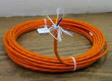 25 feet 24 AWG Orange Shielded Silver Plated PTFE Wire 3 Twisted 19 strands