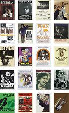 Bob Dylan Concert Posters Trading Card Set FREE UK POSTAGE