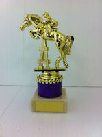 Show Jumping, Horse, Equestrian Trophy, Award, 7 Colours, 4 Sizes,FREE Engraving