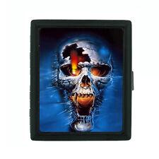 Metal Cigarette Case Holder Box Skull Design-005 Scary Raging Skull