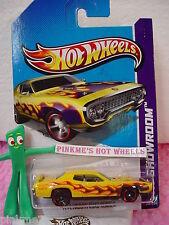 CASE B/C  2013 i Hot Wheels '71 PLYMOUTH ROAD RUNNER 1971 #215∞Yellow∞Showroom