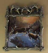 Wilderness Glory Leaping Grace #1 Plate Plaque Deer Buck Doe Mibcoa Ted Blaylock