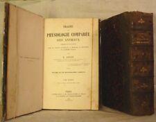 COLIN TRAITE de PHYSIOLOGIE COMPAREE DES ANIMAUX 1886 2 volumes ABE