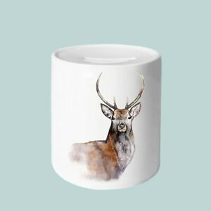 Stag Money Box, 11oz Money Box, gifts for everyone, Animal