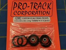 Pro Track 411E Black Turbine O-Ring Drag Fronts from Mid America