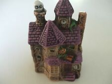 "haunted house candle holder with tea light candle 5""x3-1/2"""