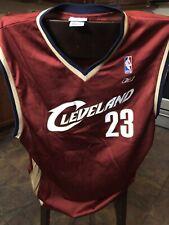 Lebron James 23 Cleveland Cavaliers Reebok Maroon Jersey Men's XLarge EUC