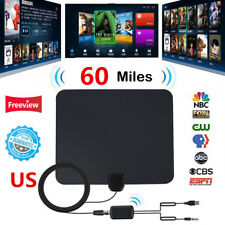 Flat Indoor HD Digital Indoor Amplified TV Antenna with Amplifier 60 Miles Range