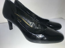 9e03a07926c Lauren by Ralph Size 5 Black Patent Leather HARPER Stiletto High Heels 2.75