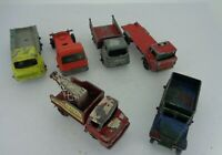 Set of 6 - Vintage Matchbox personnel carrier Bedford Thames GMC - with DEFECTS