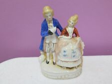 Vintage Porcelain Figurine of a Colonial Couple -Made in Japan