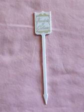 Vintage Bar Drinks Swizzle Stick Veeder'S Of Colonie White