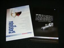 AMERICAN AIRLINES magazine clippings print ads from 2008 & 2011