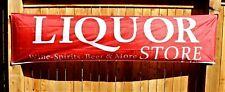New Liquor Store Banner Sign Huge 2 feet x 8 Wine Spirits Beer Advertising Open