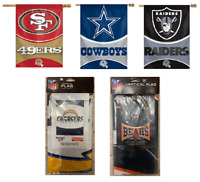 "NFL Vertical Flag Licensed Banner 27"" x 37"" -Select- Team Below"