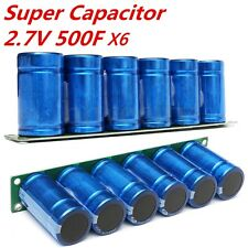 6X Super Capacitor 2.7V 500F Farad 16V Parallel Power + Protection Board Set