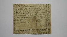 1760 Thirty Shillings North Carolina NC Colonial Currency Note Bill! RARE 30s