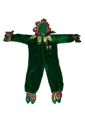 Girl Chrisha Playful Plush Green Flower Petal Costume Size Ages 7 + and up