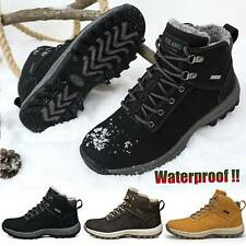 Mens Waterproof Warm Winter Snow Boots Outdoor Hiking Trainers Sports Shoes HOT