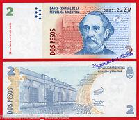 ARGENTINA 2 Pesos 2002 (2013) Serie M Pick 352  SC / UNC