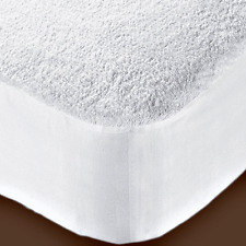 """EXTRA DEEP 16""""  NEW TERRY TOWELING MATTRESS PROTECTOR FITTED BED COVER ALL SIZES"""
