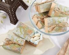 24 Map Favor Boxes Travel Themed Party Favor Boxes Candy Filler Favors