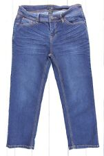 Bogari Womens Crop Capri Denim Dark Washed Jeans Size 6 29 x 23