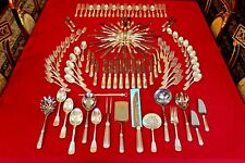 Vintage Tiffany & Co. Sterling Silver Shell & Thread Flatware Set 124 Piece Rare