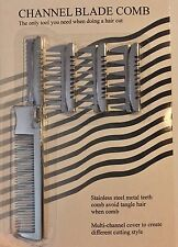 STAINLESS STEEL PRO TEXTURIZING COMB & RAZOR IN ONE WITH FOUR ATTACHMENTS