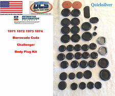 1971 72 73 74 Barracuda Cuda Challenger Body Plug Kit New MoPar USA
