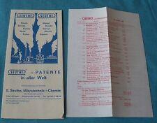 Seuthe 1969 w germany notice 6 feuilles tarifs ho 1:87 réseau train électrique