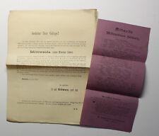 2x Original Prospekt Sommerfrische Mittweida Mittweidaer Schweiz 1884 Sachsen xz