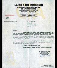 """ROUBAIX (59) LAINE à TRICOTER Franco-Australienne """"LAINE DU PINGOUIN"""" en 1939"""