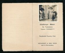 Gloucestershire Glos TEWKESBURY Shuthongor Manor advert booklet