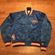 Vintage Cleveland Cavs Satin Jacket NBA Basketball 90s Cavaliers Starter Medium