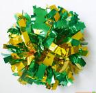 Child Adult Football Basketball Halloween Cheerleader 2PomPoms Green mixed Gold