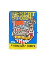 1991 Topps Desert Storm Coalition for Peace Trading Card (1) Pack First Series