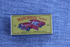 Matchbox Mercedes-Benz Coupe 53 Toy Vehicle with box