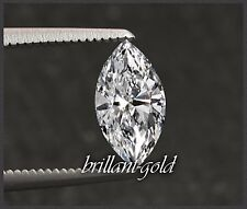 Natürlicher Diamant im Navette Schliff 0,45ct mit Zertifikat, River D / Si2, neu