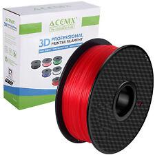 Acenix ® Rojo PETG Impresora 3D filamento 1.75mm 1KG filamento de carrete para impresión 3D