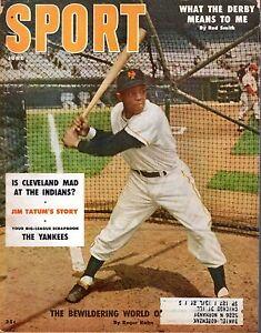1956 (Jun) Sport Magazine, Baseball, Willie Mays, New York Giants MAIL LABEL~ Gd