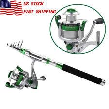 """7'6"""" 2.2M Telescopic Fishing Rod Fishing Rod & Spinning Reel 5.3:1 Set Saltwater"""