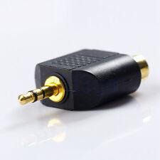 3.5mm Mâle Jack Vers 2 RCA Femelle Audio Adaptateur Convertisseur HG