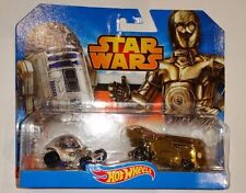 HOT WHEELS 1:64 STAR WARS R2-D2 & C-3PO SET VW DRAG BUS HOT ROD NEW IN PACK