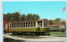 *Montreal Tramways No 957 Passenger Tram Car Ottawa Car Co Green Postcard B52