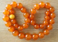 Vintage Soviet Russian Natural Baltic Pressed AMBER Necklace 38.5 gr Round Beads