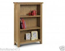Solid Oak 2 Shelves Low Bookcase W80cm x D30cm x H120cm TORI